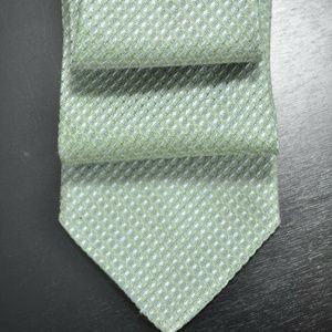 Hugo BOSS Gray/Green Silk/Linen Tie